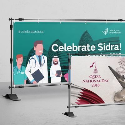 banner design printing cost in qatar