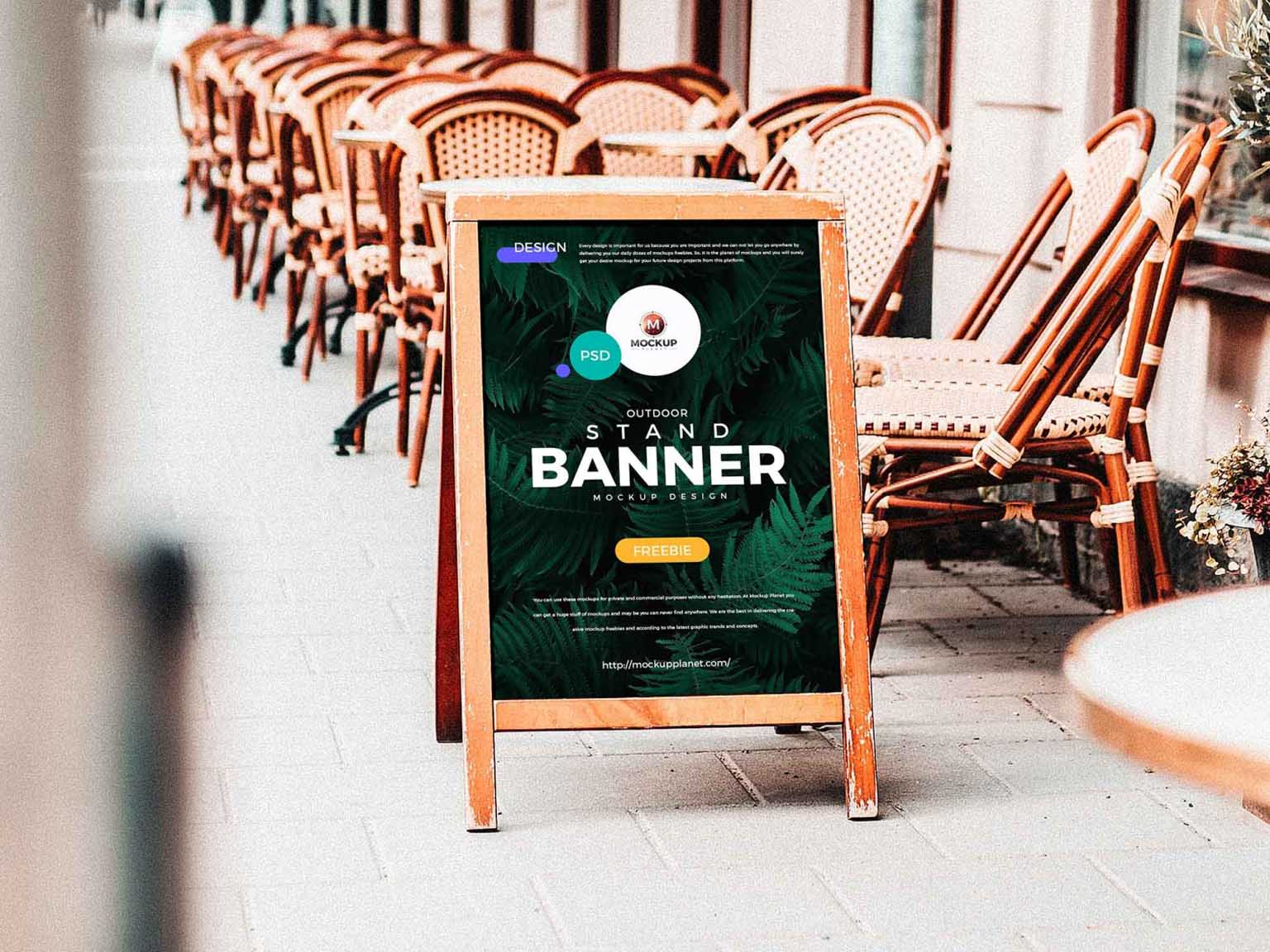 Outdoor Stand Banner printing in qatar
